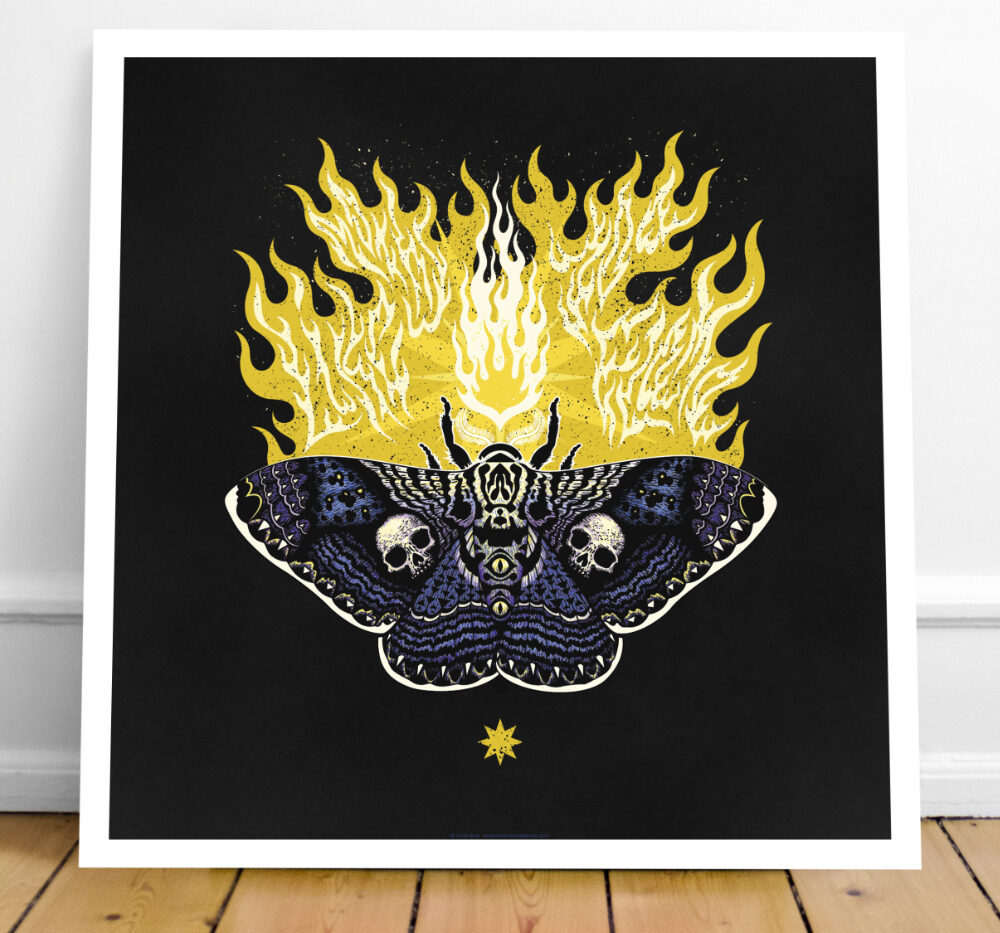 Moths to flame print