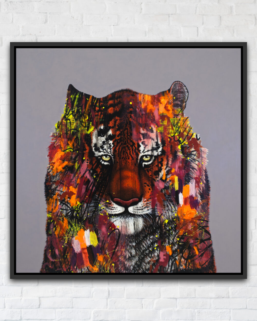 I Don't Want To Live In A World Without Tigers-Framed