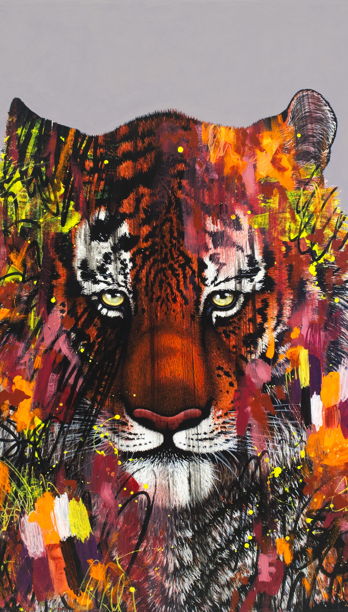 I Don't Want To Live In A World Without Tigers-painting