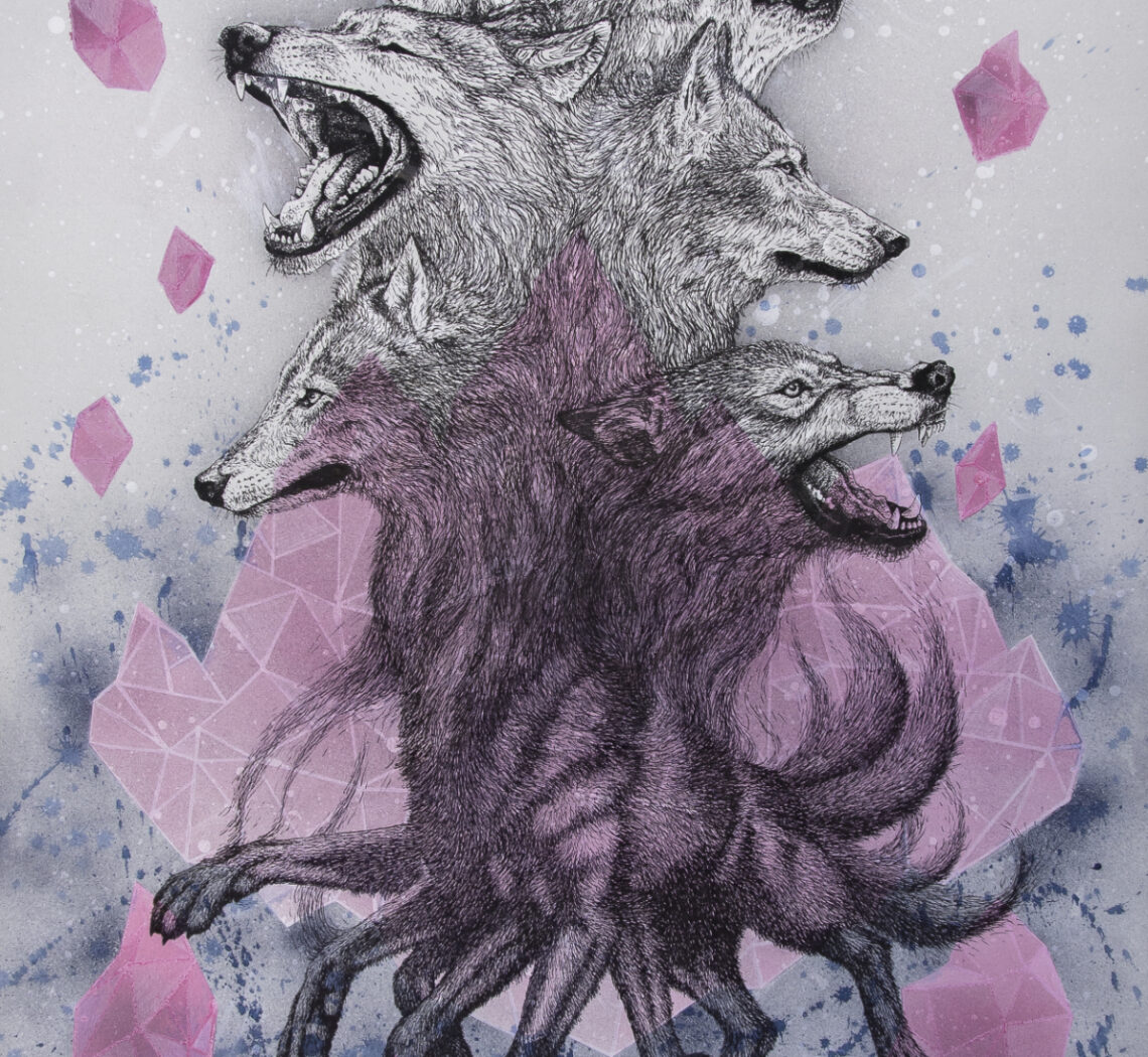 Wolf Pack-Drawing