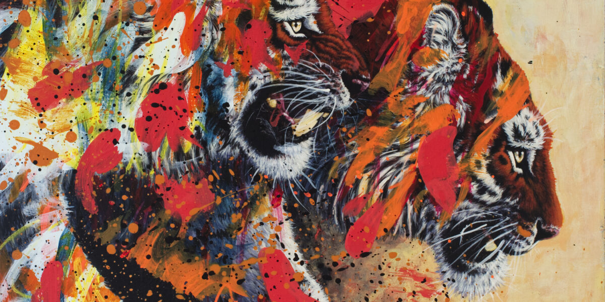 Tiger Friends Painting